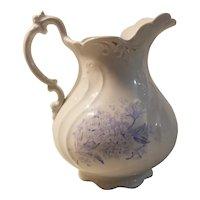 Blue transfer print pitcher