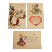 Dutch themed Valentine's postcards