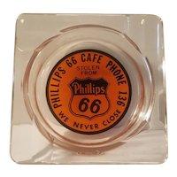 Phillips 66 advertising glass ashtray