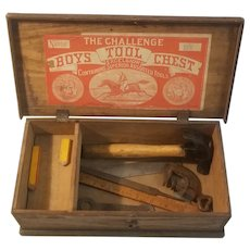 The challenge boy's wooden tool chest