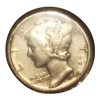 1940 D  Mercury dime