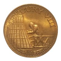 Bronze token commemorating Nasa's Mercury VIII mission