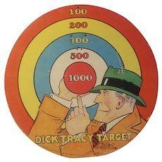 Dick Tracy cardboard target