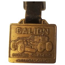 Galion watch fob with original leather