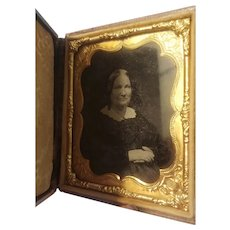 Mid 19th century cased tin type