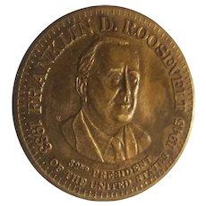 Franklin D. Roosevelt commemorative medal
