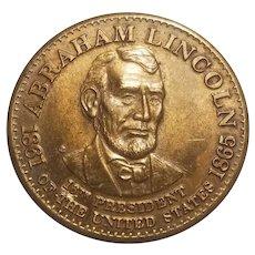 Abraham Lincoln bronze commemorative medal