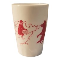 Little red riding hood child's glass