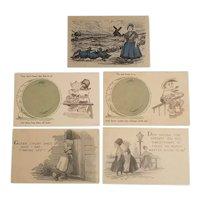 5 Postcards with a Dutch theme