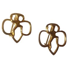 Pair of vintage Girl Scouts brownie pins