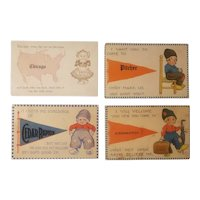 4 Dutch themed souvenir postcards
