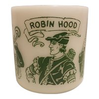 Robin Hood mug, Hazel Atlas glass