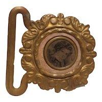Victorian photo in bronze holder