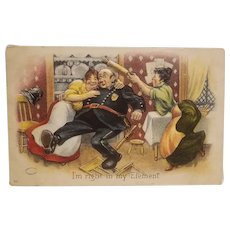 Humorous 1907 copyright Postcard