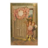 'Kindest regards' postcard dated 1909