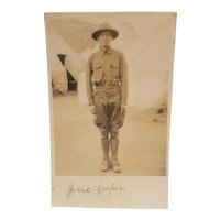 Real photo postcard of WW1 soldier