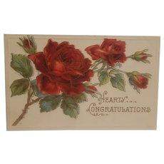 Hearty congratulations postcard