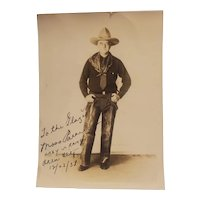 Cowboy photograph signed from Lazy s ranch in 1938