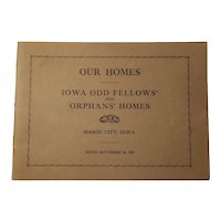 Odd Fellows and Orphans Home booklet