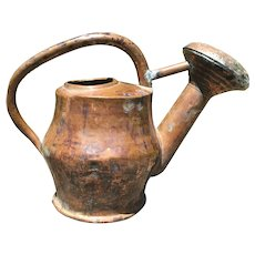 19th c French Copper watering can