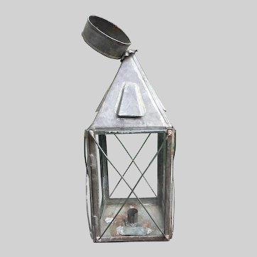 Late 19th c Tin lantern