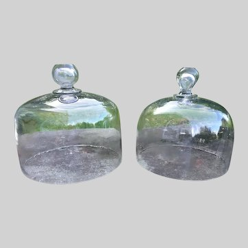 2 Glass Cloches