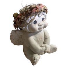 1999 Dreamsicles Small Cherubic Ceramic Angel Figurine