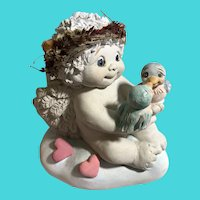 "1999 Dreamsicles #10991 ""Tweet Hearts"" Cherubic Ceramic Figurine"