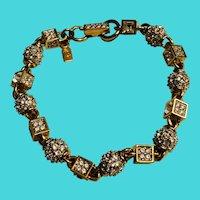 """Genuine Swarovski 7"""" Gold Tone & Crystal Bracelet"""