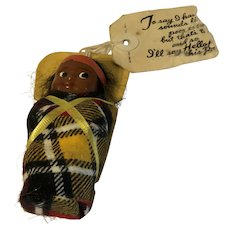 Vintage SKOOKUM Native American Indian Papoose Baby DOLL toy