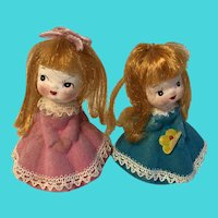 Set of 2 Vintage Napcoware Little Girl Figurines / Dolls from Japan