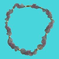 "Vintage 16"" Child's / Girls Lucite Floral Motif Necklace"