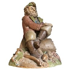 "Tom Clark Gnome ""HYKE II"" 1986 Figure CAIRN STUDIO Woodspirit Sculpture"