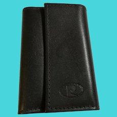 Vintage Pierre Cardin Black Genuine Cowhide Leather Tri-fold Key Case