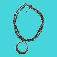 "Vintage 16-18"" Premier Designs Multi Strand Beaded Pendant Necklace"