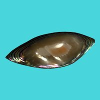 """Vintage / Antique Victorian Abalone Shell 1.7"""" Collar Pin / Brooch"""