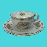 Pirken Hammer Czechoslovakia Carlsbad Fine China Teacup & Saucer Set