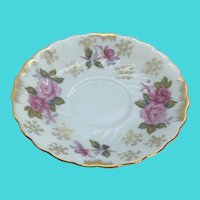 "Vintage Hand Painted Floral 5.75"" Plate / Saucer - Marked JAPAN"