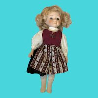 Vintage World Bazaars Inc. Blond Haired Blue Eyed Baby Doll