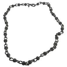 "18"" Vintage 1990's Premier Designs Silver Tone Link Necklace"