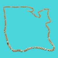 "Vintage 30"" Long Monet Gold Tone Chain Necklace"