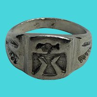 Size 6.25 Vintage Sterling Silver Native American Thunderbird Ring