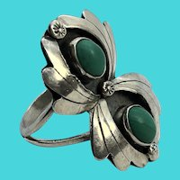 Vintage Size 6.5 Sterling Silver & Genuine Turquoise NA OOAK Ring