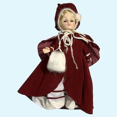 "Vintage 1975 Effanbee Christmas Plastic 11"" Doll Blond Girl w/ Hazel Eyes"
