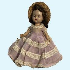 "Ginny Vogue Dolls 1950's Blue Eyes Brown Hair Little Girl 8"" Doll"