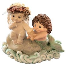 "1996 Dreamsicles ""Mermaid's Gift"" Cast Ceramic Art Figurine"