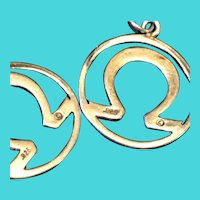 Sterling Silver Lucky Horseshoe Dangly Earrings