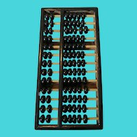 "Vintage Black Wooden Chinese Abacus 9"" x 4.5"""