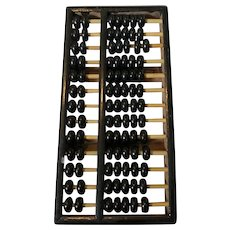 """Vintage Black Wooden Chinese Abacus 9"""" x 4.5"""""""
