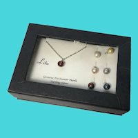 """Stunning LITA Sterling Silver 18"""" Necklace & Interchangeable Freshwater Pearls"""